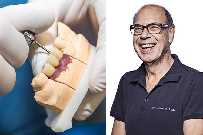 Jan Ekenbäck kvalitetsansvarig på Aqua Dental pratar om tandimplantat.